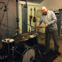 Drum and bass recording for new Boudoir album
