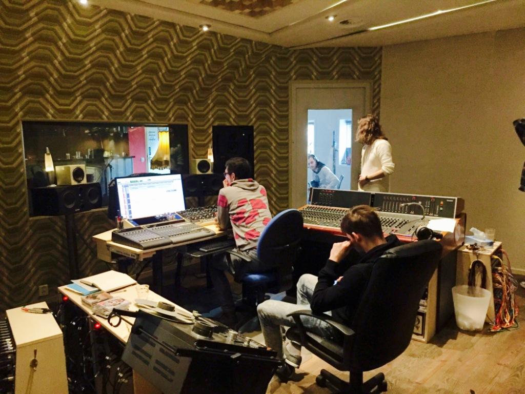 EP opnemen - in de controlroom van Studio pegy51