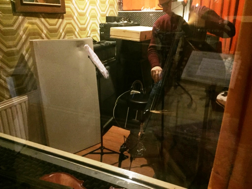 Double bass in the booth