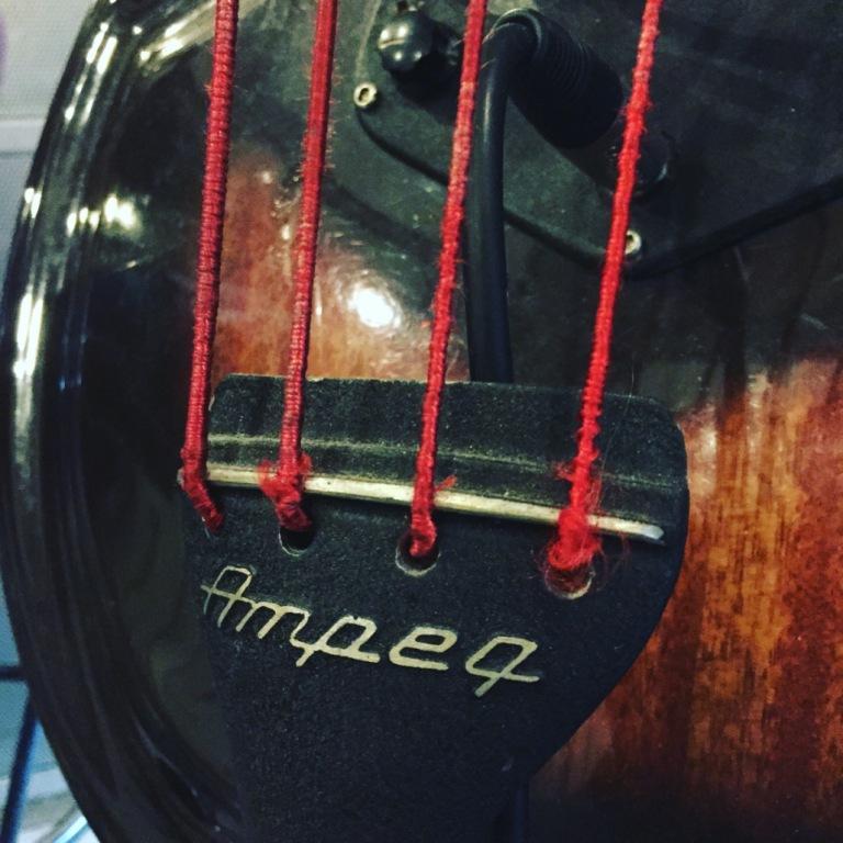 Album opname - Ampeg baby bass