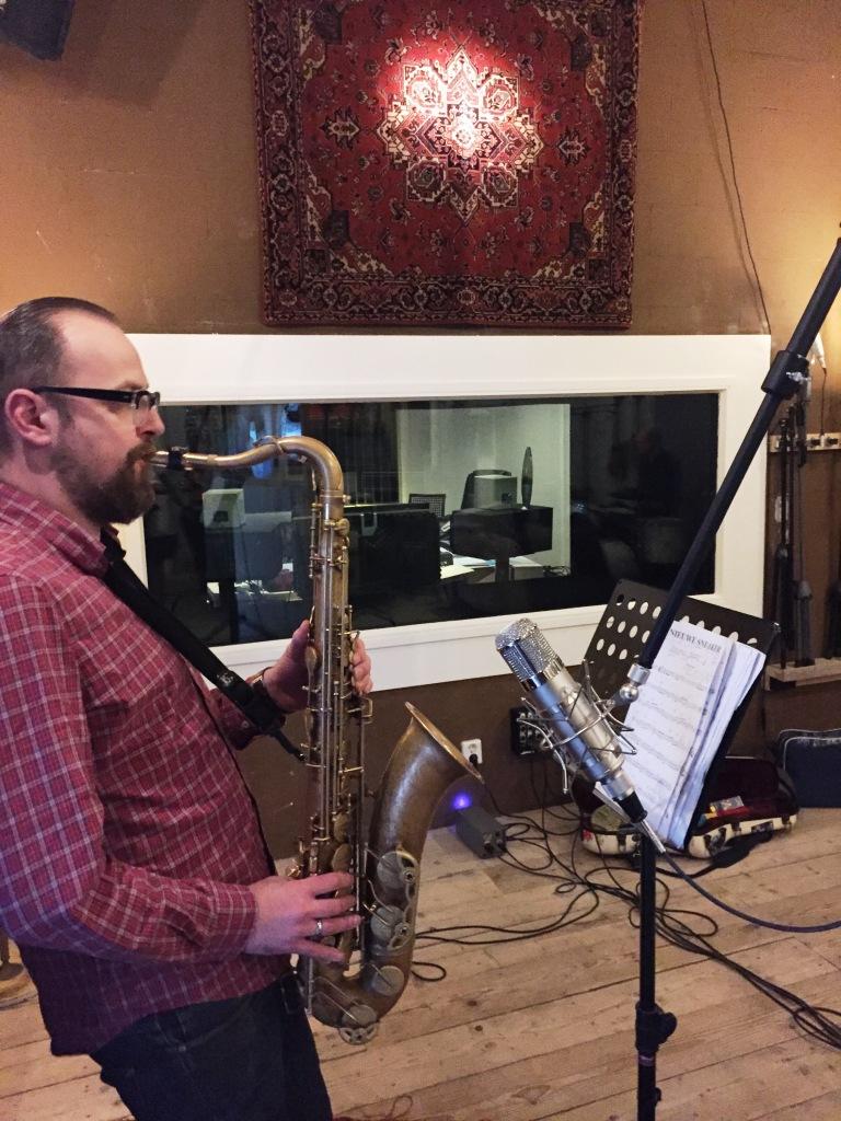 Jazz recording, sax u47