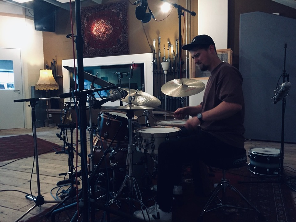 recording drums at Studio peggy51