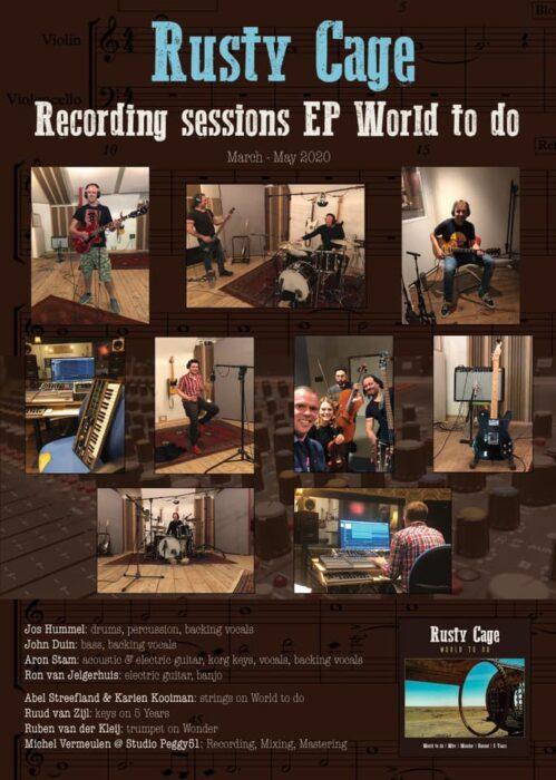 EP recording collage